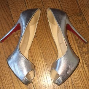 Authentic Christian louboutin open toe heels!